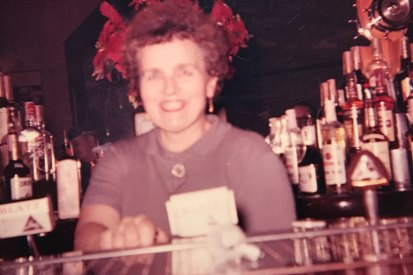 Grandma at bar